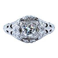 Sparkling Antique Diamond Engagement Ring