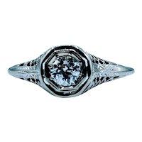 Vintage 14kt .23ct Diamond Ring