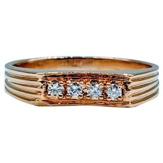 Men's 18k Vintage .17ctw Diamond Ring