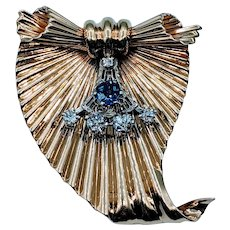 Vintage Tiffany & Co. by George Schuler Fluted Gold Brooch