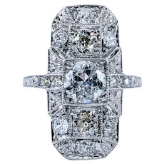 Exceptional Art Deco Diamond Cocktail Ring