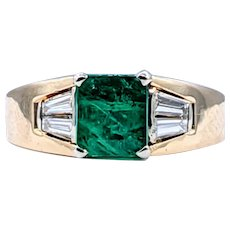 Bold Emerald & Diamond Cocktail Ring