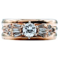 Beautiful Vintage .50ctw Diamond Ballerina Ring