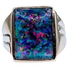 Men's Opal Doublet Ring