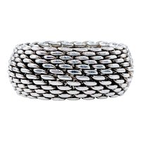 Tiffany & Co Sterling Silver Mesh Ring