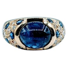 Extremely Rare 3.53ct Natural Kashmir Sapphire Ring 18k