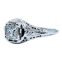 Custom Antique Setting W/ Princess Diamond!