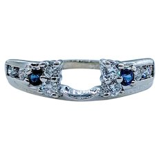 Beautiful Diamond and Sapphire Wrap Ring