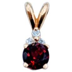 Classic Garnet & Diamond Pendant