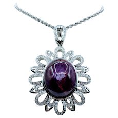 Gorgeous 52.57ct Unheated Star Ruby Necklace