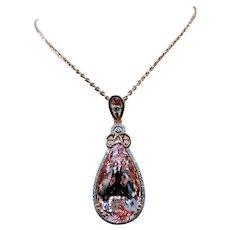 Brilliant 27.07ct Morganite and Diamond Necklace