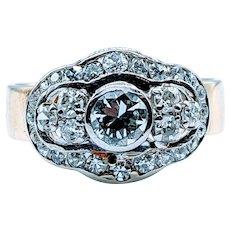 Stunning Midcentury .62ctw Diamond Anniversary Ring