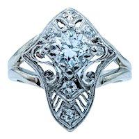 1920s .56ctw Old European Cut Diamond Ring