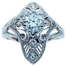 1920s .56ctw Old European Cut Diamond Ring