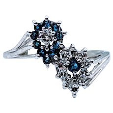 Double Pear Shaped Sapphire and Diamond Cocktail Ring