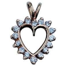Petite Diamond Heart Pendant
