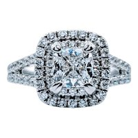 1.02ct Cushion Shape Diamond Engagement Ring 18kw