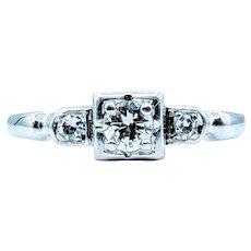 18kt Vintage Diamond Ring
