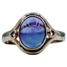 Vintage Amethyst Cabochon Ring