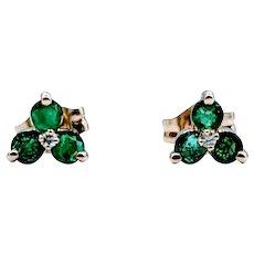 1/3ctw Emerald Earrings