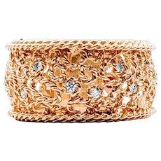 Retired Roberto Coin 18k Diamond Lattice Ring
