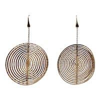 Gorgeous 18k Reversible Dangle Earrings