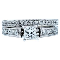 Brilliant .65ctw Diamond Wedding Set