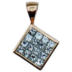 Gorgeous 1.00ctw Princess Cut Diamond Pendant
