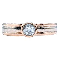.33ct Diamond Bezel Set Ring