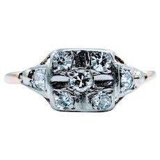 Antique Seven Stone Mine Cut Diamond Ring
