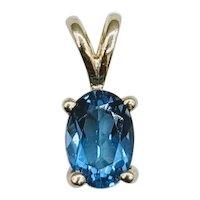 Beautiful Oval Blue Topaz Pendant