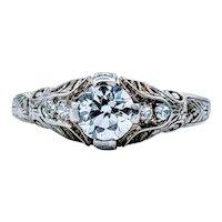Antique .45ct Diamond Art Deco Ring