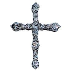 Stunning .45ctw Diamond Cross Pendant