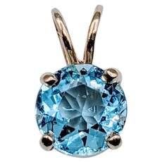 Beautiful 7mm Aquamarine Pendant