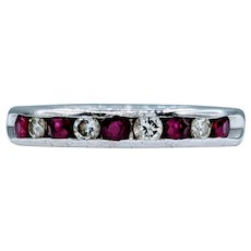 Gorgeous Ruby & Diamond Channel Ring