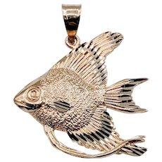 Gold Betta Fish Pendant