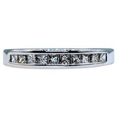 Sparkly Princess Cut Diamond Channel Ring