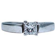 Gorgeous .35ct Princess Cut Diamond Solitaire Ring