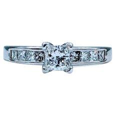 Sparkly .65ctw Princess Cut Diamond Ring