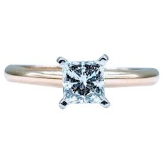Gorgeous Princess Cut Solitaire Diamond Ring