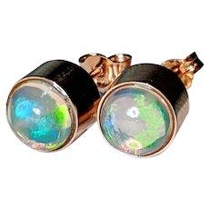 Natural Ethiopian Opal Stud Earrings