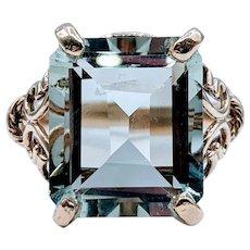Gorgeous Vintage Green Amethyst (Prasiolite) Ring