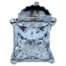 .75ct Princess Cut Diamond Stud Earring
