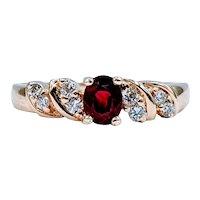 Gorgeous Natural Ruby & Diamond Ring