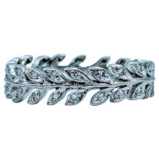 Unique Platinum & Diamond Laurel Wreath Ring