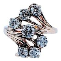 Gorgeous Midcentury 1.00ctw Diamond Ring