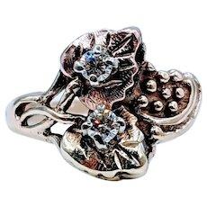 Vintage Black Hills Gold Diamond Ring