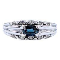 Beautiful Sapphire & Diamond Dress Ring