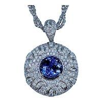Fabulous Tanzanite and Diamond Necklace
