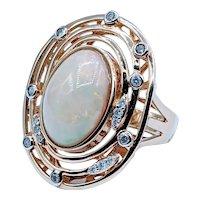 Dazzling Opal and Diamond Fashion Ring